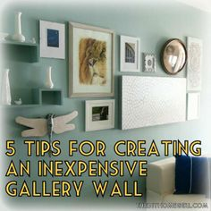 Gallery walls are fun to create but can be costly! Check out my tips for creating one on the cheap plus see my latest decorating project!