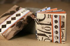 """Fun Mini Album in a Box project, done with Club Scrap's """"Short Sleeve Pants"""" paper collection"""