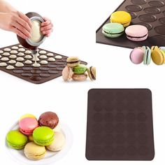 Large Silicone Pastry Tray For 30 Macaroons. Visit Today For Great Limited Time Offer! #BigStarTrading.