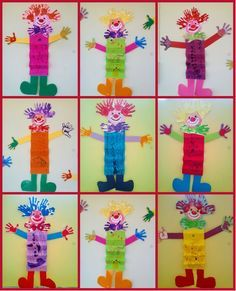 What is carnival? Children's playground: what is the carnival ? Clown Crafts, Carnival Crafts, Craft Stick Crafts, Diy And Crafts, Arts And Crafts, Valentine Crafts For Kids, Mothers Day Crafts, What Is Carnival, Kindergarten Art