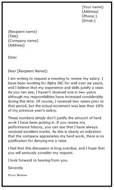 Advance Salary Request Letter Template Is A Formal Letter