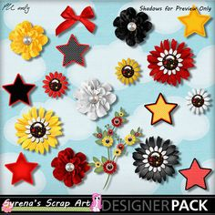 Digital Scrapbooking Magical Cruise Flower Pack