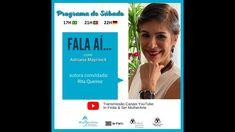 Programa de Sábado Fala Aí com Rita Queiroz Brasil - 17 de Maio 2021 Youtube, May 17, Master's Degree, Log Projects, Authors, Youtubers, Youtube Movies