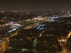 The view of Paris from the top of the Eiffel Tower.