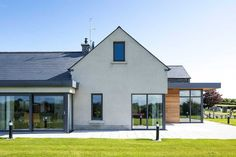 New Build In County Armagh Informasi dan tips mengenai rumah minimalis Modern Bungalow House, Bungalow Exterior, Bungalow Renovation, Cottage Exterior, Modern Farmhouse Exterior, Dream House Exterior, Modern House Plans, Modern House Design, House Designs Ireland