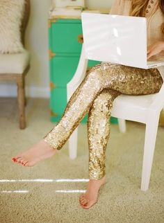 Okay fine, I can't help it. I really want a pair of sparkle sequin pants.