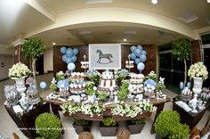 Vintage Rocking Horse 2nd Birthday Party - Kara's Party Ideas - The Place for All Things Party