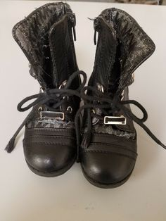 5b93f3a2f6be (eBay link) Michael Kors black toddler girl boots size 7 preowned  fashion   clothing  shoes  accessories  babytoddlerclothing  babyshoes