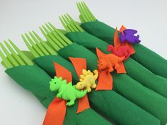 Dinosaur Flatware Dinosaur Party Cutlery and Napkin Set