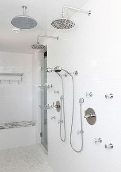 main master suite with large walkin shower kohler shower tower pinterest kersen south carolina en grote douche