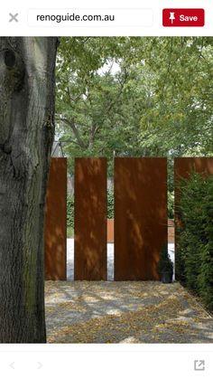 Corten Front Fence