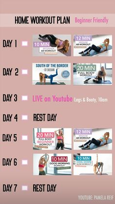 30 best pamela reif images in 2020  at home workout plan