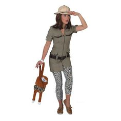 Safari outfit voor dames. Carnavalskleding 2016 #carnaval