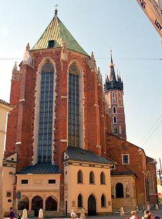 Brick Gothic- Basilica of the Assumption of Mary, Krakow, Poland.