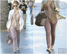 Jessica Alba Loves Flaunting Her Colorful Jeans Collection!
