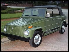 1974 Volkswagen Thing Convertible-just like the one i had in high school!!  So many memories!