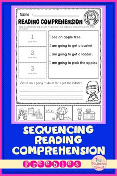 Free Sequencing Reading Comprehension contains 6 pages sequence reading worksheets. This product is suitable for kindergarten and first grade students. Kindergarten | Kindergarten Worksheets | First Grade | First Grade Worksheets | Reading Comprehension | Free Sequencing Reading Comprehension | Literacy Centers | Free Lessons First Grade Worksheets, Reading Worksheets, Kindergarten Worksheets, Cut And Paste, Literacy Centers, Reading Comprehension, Sentences, Students, Names