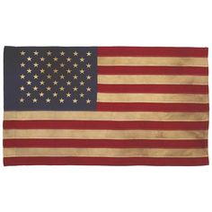 Valley Forge Flag Heritage Series 3-Foot by 5-Foot Antiqued Cotton 50-Star US Flag Valley Forge Flag http://www.amazon.com/dp/B0007KP9TA/ref=cm_sw_r_pi_dp_T7RYtb17003DYQBC