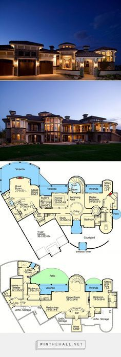 7805 sq ft Mediterranean Dream Home Plan