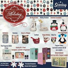 The Scentsy Christmas and Hoiday collection for 2015 is now available. #scentsbykris
