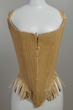 Corset | Western European | 1770-1790 | linen, whalebone, silk tape | Museum of Fine Arts, Boston | Accession #: 43.534