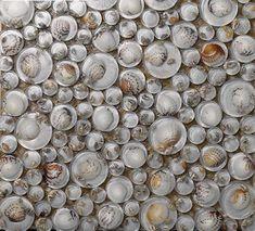 heart-shaped mosaic art collection mixed porcelain pebble tile