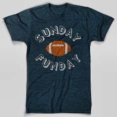 Sunday Funday TShirt by chitownclothing on Etsy, $19.99