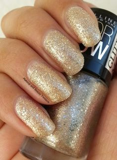 Maybelline Color Show Glitter Mania Nail Polish in All That Glitters Review & Swatches   Makeup and Beauty Treasure