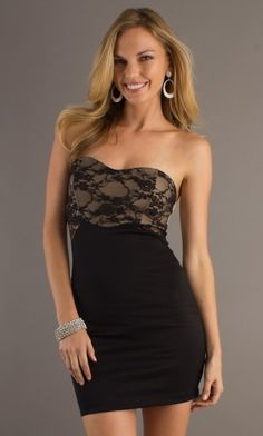 Black Corset Sweetheart Short/Mini Prom Dress With Lace Lace PD2FBE