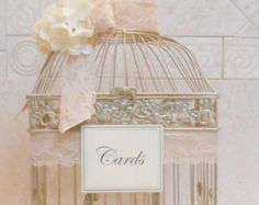 Großer Vogelkäfig Hochzeit Kartenhalter / Champagne Gold Vogelkäfig / Wedding Box / elegante Hochzeit / Gold Vogelkäfig / Wedding Karteninhaber