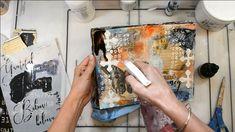 Mixed Media Techniques, Mixed Media Tutorials, Art Journal Techniques, Art Tutorials, Mixed Media Journal, Collage Art Mixed Media, Mixed Media Canvas, Kunstjournal Inspiration, Art Journal Inspiration