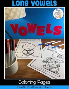 Your Students will ADORE these Coloring Book Pages for Long Vowels! Add it to your plans to compliment any Long Vowels Unit! 70 Coloring Pages For Some Long Vowel Fun! Perfect for bulletin board Second Grade Teacher, First Grade Classroom, First Grade Math, Coloring Apps, Coloring Book Pages, Reading Centers, Writing Centers, Literacy Centers, Short I Words
