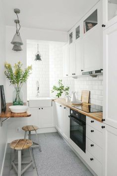 If you are looking for Apartment Kitchen Design Ideas, You come to the right place. Below are the Apartment Kitchen Design Ideas. This post about Apartment Kitchen Design Ideas was posted under the Ki. Galley Kitchen Design, Small Space Kitchen, Little Kitchen, New Kitchen, Kitchen White, Kitchen Wood, Compact Kitchen, Kitchen Ideas For Small Spaces Design, Cheap Kitchen
