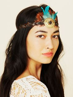 Free People Free People Gilded Feather Headdress, $28.00