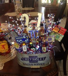 My Brother Is Finally Turning 21 Made Him This Birthday Broquet For His Party 21st Gifts