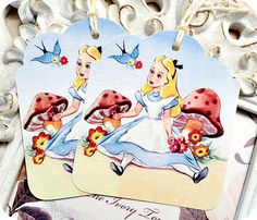 NEW  Alice in Wonderland Tags  Set of 6 by LittlePaperFarmhouse