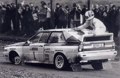 RAC Rally, 1983, Hannu Mikkola and Arne Hetz (on the back of the car) Classic Stuff! We were there...