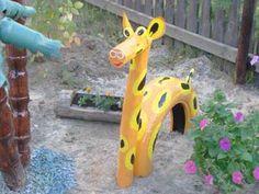 neumatico reciclado juguete jirafa