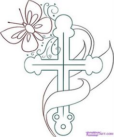 find this pin and more on my style religious cross drawing art coloring page for kids - Drawing And Colouring For Kids