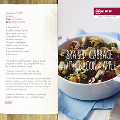 Recipe - Braised Cabbage with Bacon and Apple.  One of our favourite recipes from our Neff Recipe Collection. September is apple month in the UK and we love this warming, comforting seasonal dish.