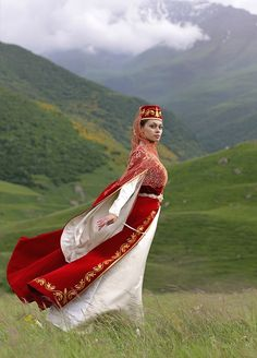 Ossetian women's national dress.