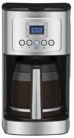 Coffee Maker - Cuisinart Glass Carafe with Stainless Steel Handle Programmable Coffeemaker Coffee Maker Reviews, Best Coffee Maker, Drip Coffee Maker, Hot Coffee, Coffee Cups, Coffee Beans, Coffee Girl, Black Coffee, Coffee Scrub