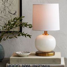 Mini Abacus Table Lamp - Milk Finish | west elm