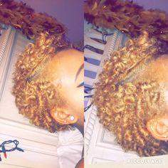 Golden Curls! #natural #curls naturallycurly #blonde #hair #naturalhair #twa