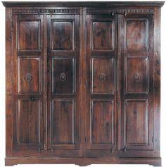 KARE Design Cabana Kleiderschrank 4 Türen Kolonialstil dunkelbraun NEU