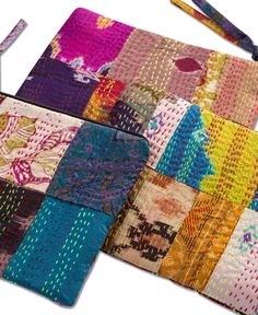 Large Sari Patch Pouch
