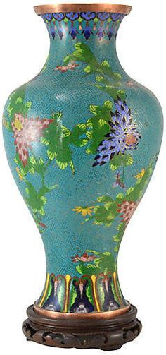 One Kings Lane Vintage Antique Aqua Cloisonne Vase with Stand #Ad #AffiliateLink