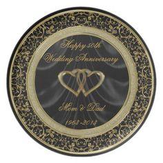 50th #WeddingAnniversary Plate