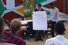 Young learners brainstormed ideas to design a better backpack at the Vision Afrika Tech Day