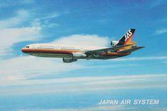 JAS, Japan Air System DC-10 Postcard